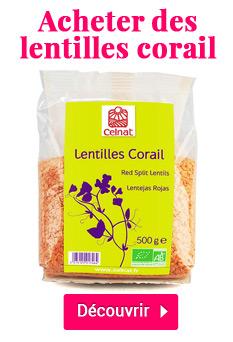 Acheter des lentilles corail